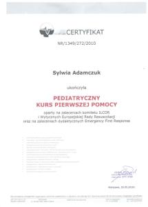 2010 Pediatryczny Kurs Pierwszej Pomocy